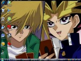 my yami and joey desktop by WeFallLikeAngels19