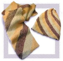 Diagonal Scarf and Hat by MuseSusan