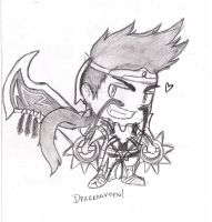 Chibi Draven - League of Legends by XdarkxkittyX