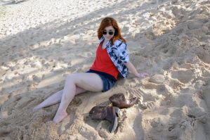 Amy Pond - Automatic Sands by moonflower-lights