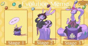 Evolution Meme: Shelly by wee-donut