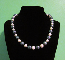 Ebony - Cream Pearl Necklace by BloodRed-Orchid