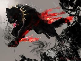 Demon Wolf request by TheRockyCrowe