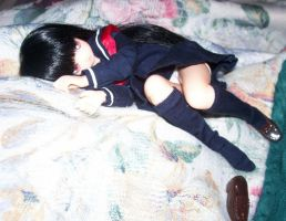 Enma Ai rests in Uniform by Lsayaku