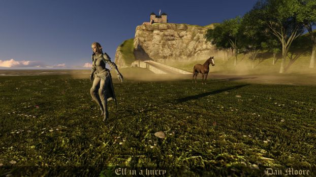 Elf in a hurry by danmoore