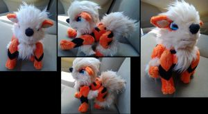 Jointed arcanine plush by LRK-Creations