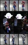Skull Mario Halloween Papercraft by BRSpidey