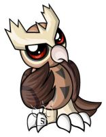 Noctowl Chibi by RedPawDesigns