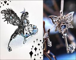 Alice in wonderland Key by shienys