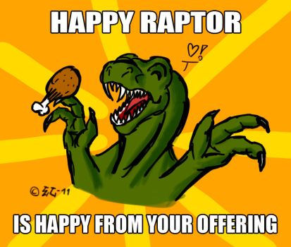 Happy Raptor by EmotionCreator