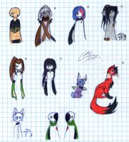 My OCs in color #2 (updated) by Mary-Maru