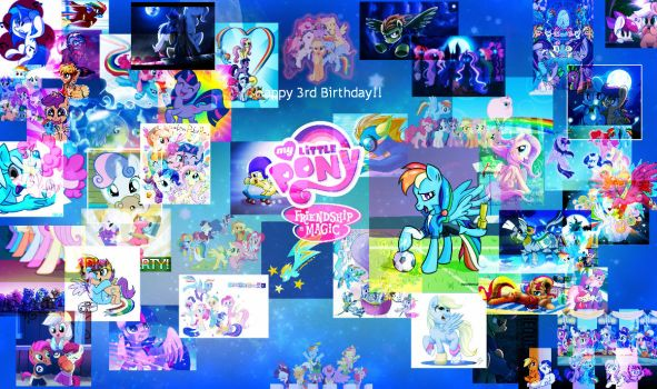 Happy 3rd Birthday to My Little Pony!!! by Deonjr15