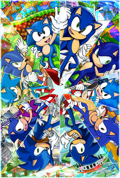 :Sonic 25th:  KALEIDOSCOPE by Feniiku