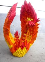 Phoenix winging her way - 3D origami by SophieEkard