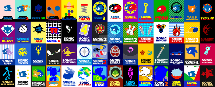Sonic Game Cards 1991-2017 by Sonicguru