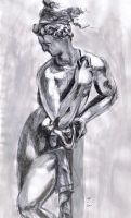 Pen and Ink Study of Sculpture by SundayPrism