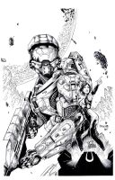 Master Chief and Cortana by TonyKordos