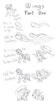 (MLP) How To Draw- Wings (part 1) by FoxTailPegasus