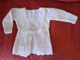 Baby crochet coat by argentinian-queen