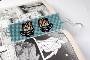 Custom Bookmark with Meowth by StitchPlease