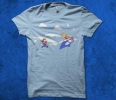 Mario's Adventure time T-shirt by alsnow