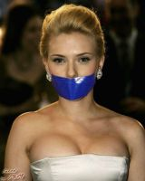 Scarlett Johansson gagged by PhM 002 by PhMBond
