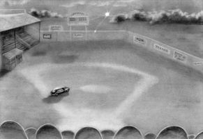 Driving on a baseball field by C-Deveraux