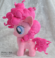 Pinkie pie filly plush by PinkuArt
