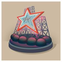 Building Illustration: Roanoke Star by plaidklaus