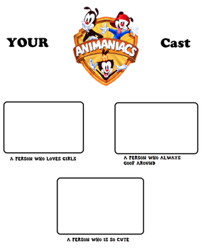 Your Animaniacs Cast Meme Blank by mixelfangirl100