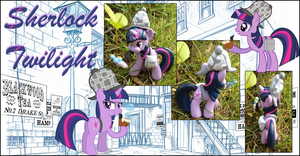 My little Pony FIM Sherlock Twilight Custom Pony by Asukatze