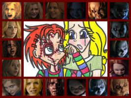 ChuckyXCarrie Collage by sonicshadowlover13