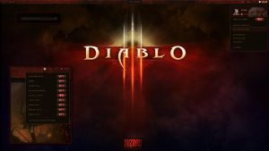 GNOME Shell - Diablo III Desktop by half-left