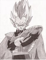 Prince Vegeta by superheroarts