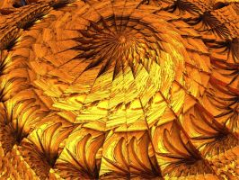 Golden wooden spiral by Undead-Academy