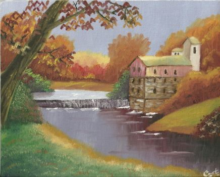 Mill by The Creek by OneForeverMore