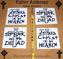 Father Anderson stickers :D by ElectrikPinkPirate