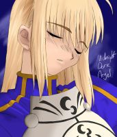 FSN Portrait - Saber by Midnight-Dark-Angel
