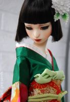 Rin in gerrn kimono by ball-jointed-Alice