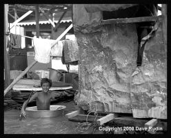 Boy in a Bowl, Cambodia, 2008 by DaveR99