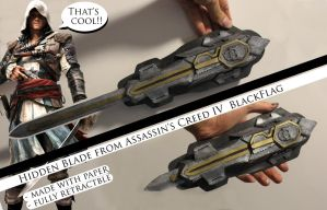 AC4 blackflag hidden blade 3 by twitte0king