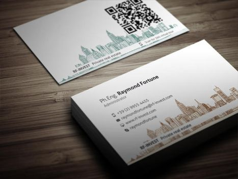 Classy Real Estate Business Card by themeflava