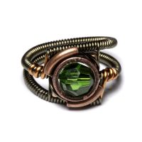 Steampunk Fern Green Ring by CatherinetteRings