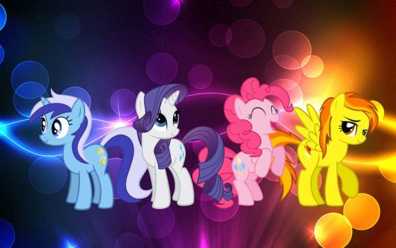 4 Color MLP Wallpaper by Rin00008