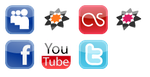 Social network buttons by Heffa89
