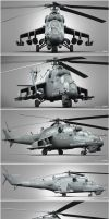 Mi-35P Clay render compilation by Siregar3D