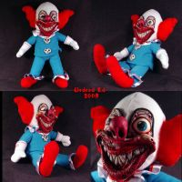 Demented Bozo Da Clown plush by Undead-Art