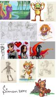 some drawings 1 by SimonTheFox1