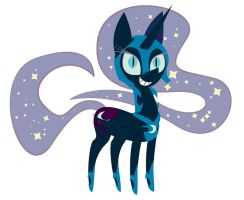 Nightmare Moon Vector by DayzeeHead