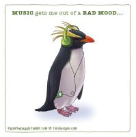 Music gets me out of a bad mood by Toki-Designs